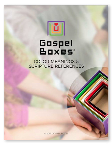 Gospel Boxes Color Meanings and Scripture References